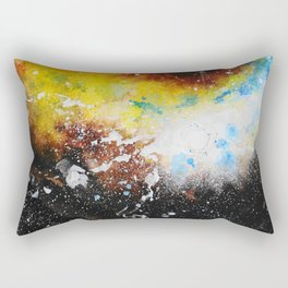 Golden Galaxy Rectangular Pillow