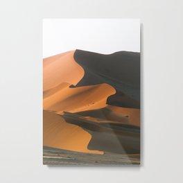 Dunes at sunset, Sossusvlei | Namibia travel photography Art Print Metal Print