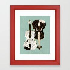 Two Violins Framed Art Print