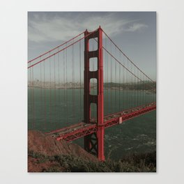 Golden Gate West From Above Canvas Print