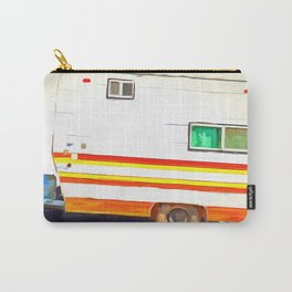 Vintage Camping Trailer Pop Carry-All Pouch