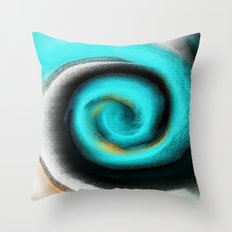 Pacific Glass Abstract Throw Pillow