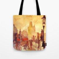 takmaj Tote Bags featuring Charles Bridge by takmaj