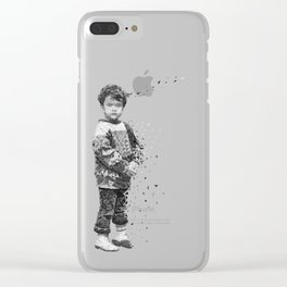 Vanishing Girl Clear iPhone Case