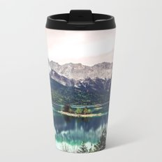 Green Blue Lake and Mountains - Eibsee, Germany Metal Travel Mug