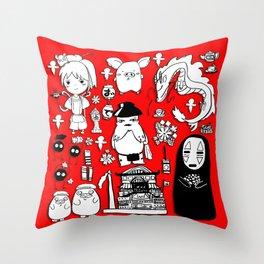 Spirit Away Characters Throw Pillow