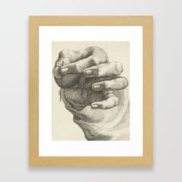 Hand and Needle, 1830 Framed Art Print