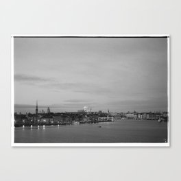 As night falls over Stockholm Canvas Print