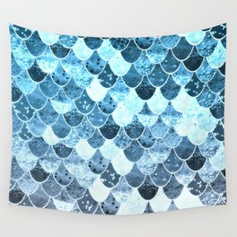 REALLY MERMAID SILVER BLUE Wall Tapestry