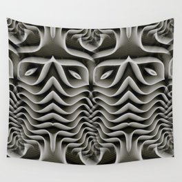 Exo-skelton 3D Optical Illusion Wall Tapestry