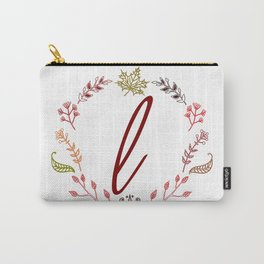 Floral L letter Carry-All Pouch