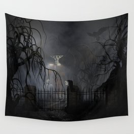 Darkness Comes Miss Piggy Returns Wall Tapestry