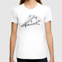 plane T-shirts featuring paper plane by gazonula