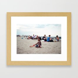 Building Sandcastles Framed Art Print