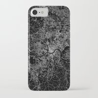 cincinnati iPhone & iPod Cases featuring Cincinnati map by Line Line Lines