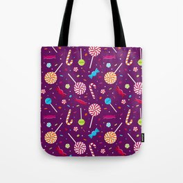 Delightful Candy Pattern Tote Bag