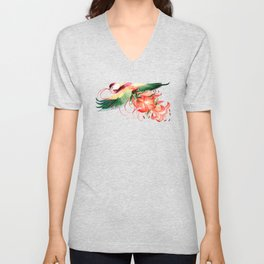 Rose Crowned Fruit Dove Unisex V-Neck