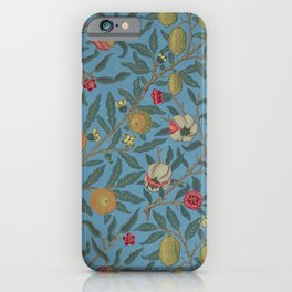 William Morris Fruit and Pomegranate Vintage Print iPhone Case