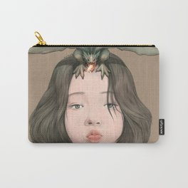 Girl with Dragon Carry-All Pouch