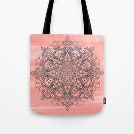 Coral Mandala Tote Bag