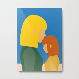 Mum And Daughter Metal Print