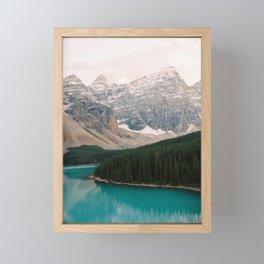 Turquoise waters of Moraine Lake in Banff National Park Framed Mini Art Print