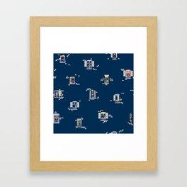 Paris Windows 2 Pattern Framed Art Print