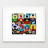 super heroes Framed Art Prints featuring Super Heroes by Chicca Besso