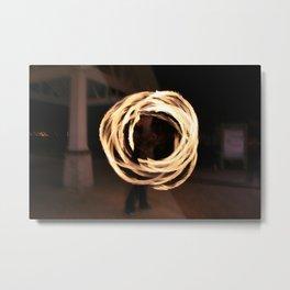 Man on Fire Metal Print
