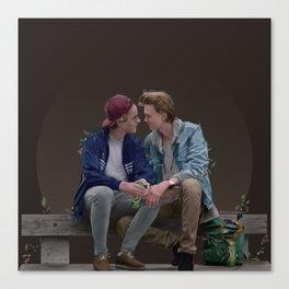 LOVE, EVAK. (dark version) Canvas Print