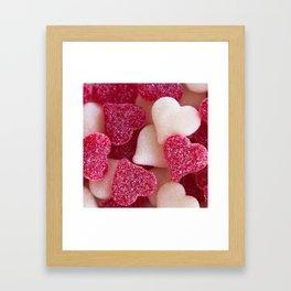 Gummy Hearts 2 Framed Art Print