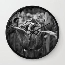 'Dying Tulip Field' Wall Clock