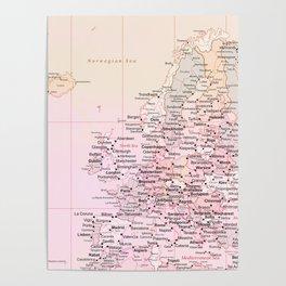 Rose Word Map Europe Poster