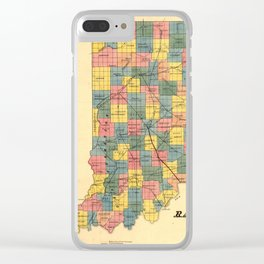 Vintage Indiana Railroad Map (1852) Clear iPhone Case