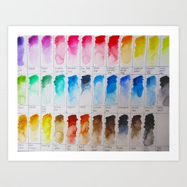 Watercolor Swatches Art Print