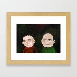 Suspicion Framed Art Print