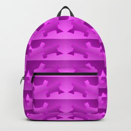 Pattern geometrical pink 3d Backpack