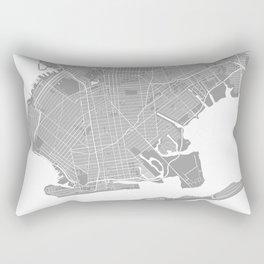 Brooklyn map grey Rectangular Pillow