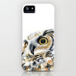 Owl Great Horned Bird of Prey Owls Animals Bird Wildlife iPhone Case