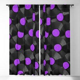 Vinyl Records Pattern (Purple) Blackout Curtain