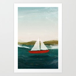 The Boat that Wants to Float Art Print