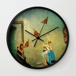 Mirror In The Sky Wall Clock
