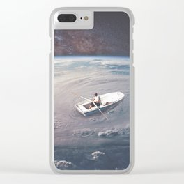 Rowing the Cosmos Clear iPhone Case