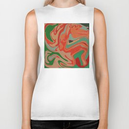 Abstract Colorful Pattern Biker Tank