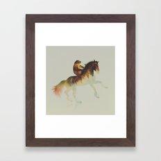 Sloth Riding a Horse Framed Art Print