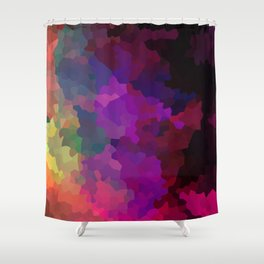 Multicolored abstract pattern . A firework of colors . Shower Curtain