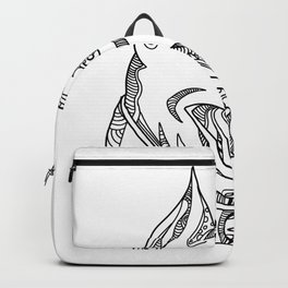 Pit Bull Head Doodle Art Backpack