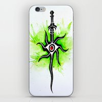 dragon age inquisition iPhone & iPod Skins featuring Dragon Age Inquisition - Inquisitor Symbol by Salzburn Designs Shop