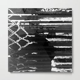 Black and White Series: Abstract Feelings Metal Print