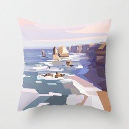 Geometric Great Ocean Road Throw Pillow